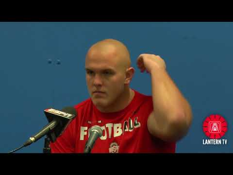 Ohio State OL Billy Price speaks after his team's 55-24 loss to Iowa.