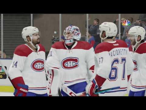 NHL 17: Montreal Canadiens Vs New York Rangers - Sliders in Description