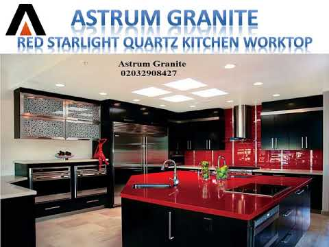 Red Starlight Quartz Kitchen Worktop In London Uk Call Us 02032908427