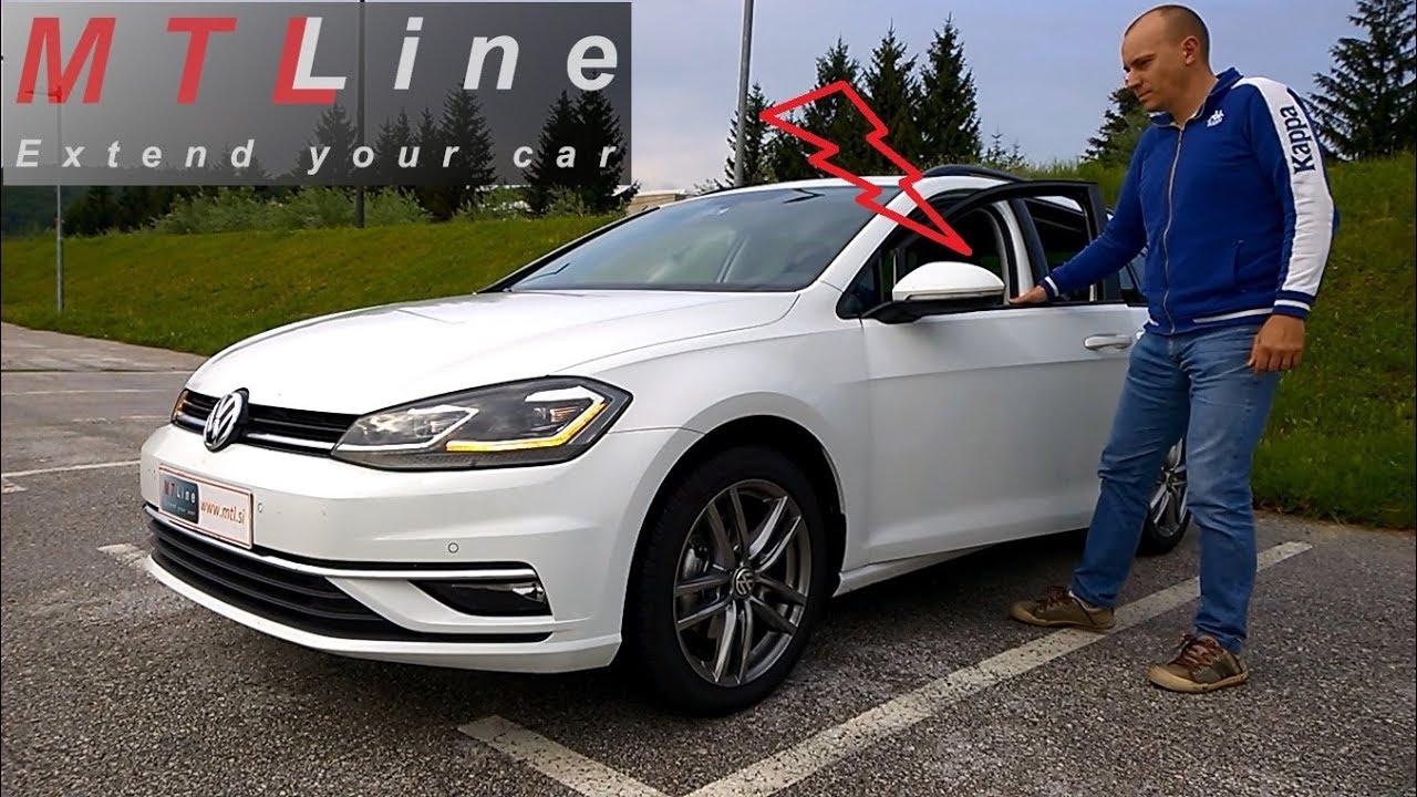 dostępność w Wielkiej Brytanii nowe obrazy wiele stylów VW Golf 7.5, MY2018 – car alarm activation – vključitev alarmnega sistema