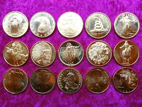 Copper Bullion Coin Collection