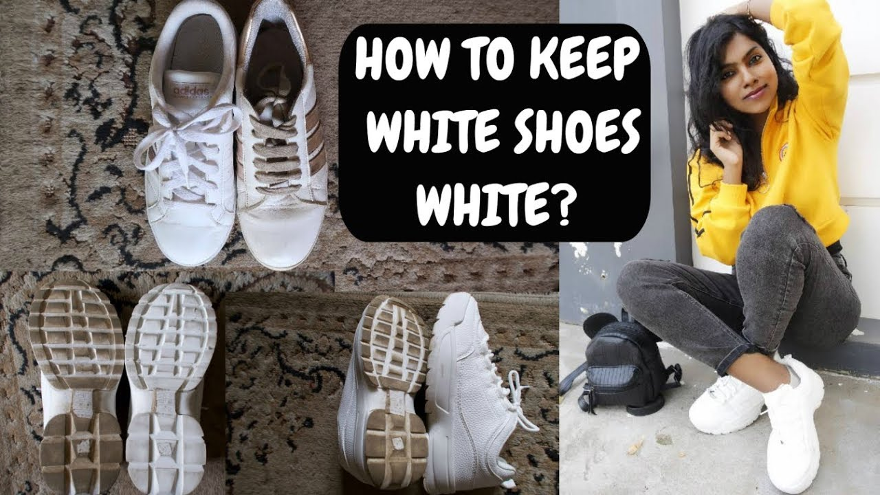 How to Clean White Adidas Cloudfoam Shoes? Tips for How to Keep White Shoes CLEAN? AdityIyer