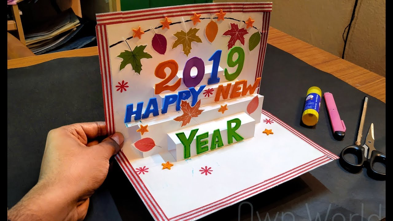 new year greeting card how to make 3d greeting card for