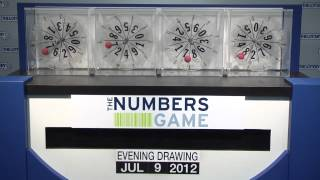 Evening Numbers Game Drawing: Monday, July 9, 2012