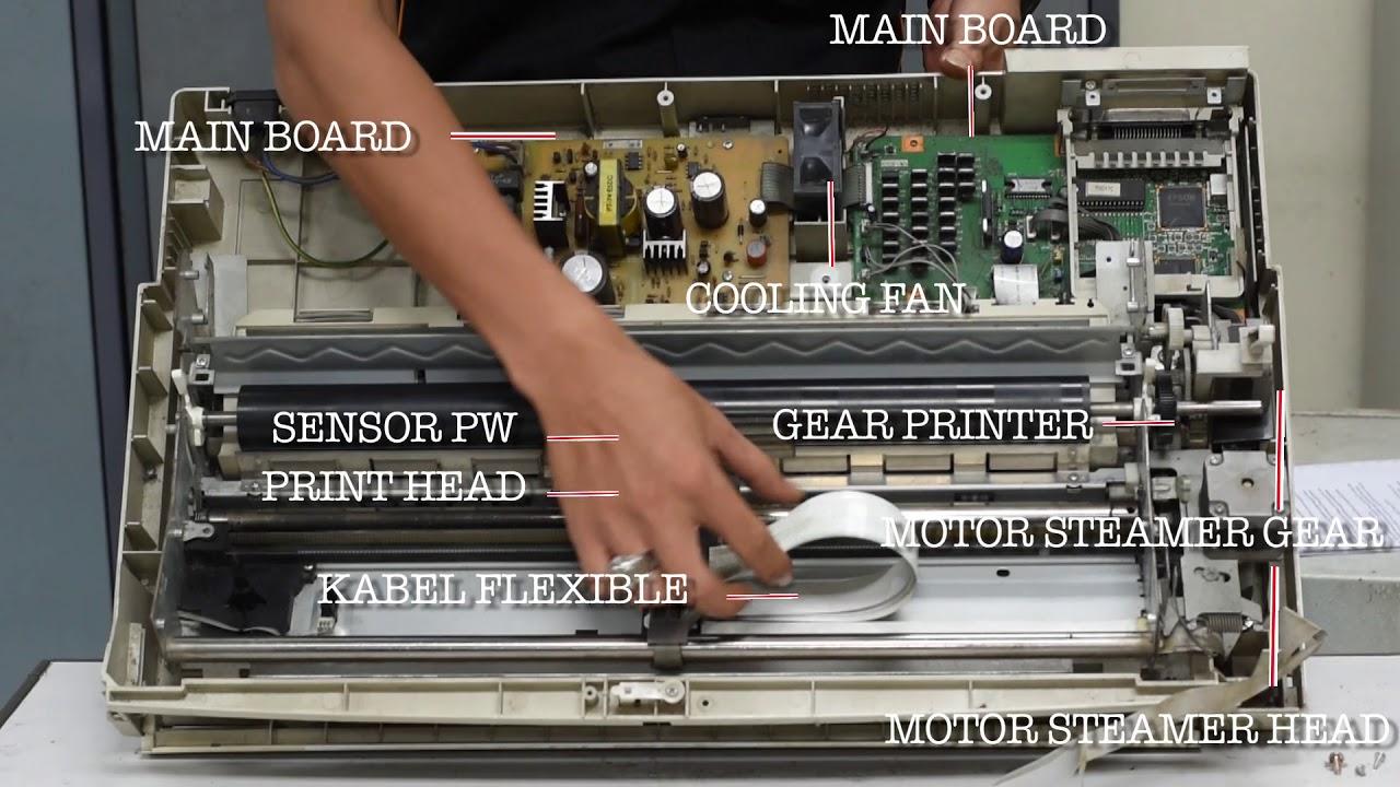 Pengenalan Part Tools Dan Troubleshoot Printer Dotmatrix Youtube Mainboard Epson Lq2170