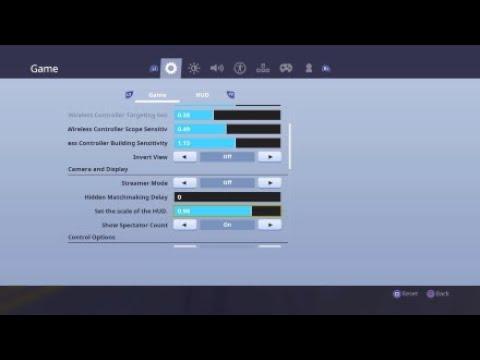 My Fortnite Settings For Combat Pro Best Settings Ps4