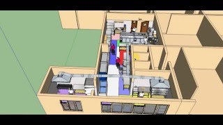 Проект Кухни кафе (Визуализация 3D)