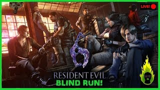 [????LIVE] Resident Evil 6, Blind Run, PS4, Any%, No Deaths Challenge, #RE6,