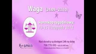 Horoskop tygodniowy dla Wagi 19-25.11.2012 na Kosmica