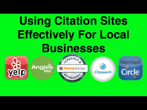 How Can Your Local Business Use Citation Sites Effectively