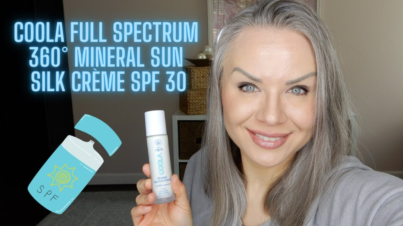 Download Testing more sunscreen on my oil slick face! Coola Full Spectrum 360° Mineral Sun Silk Crème SPF 30!