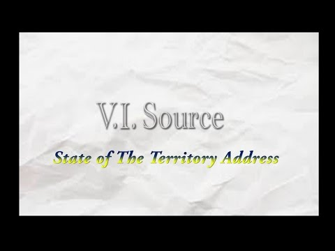Gov. Kenneth E. Mapp's State of the Territory Address 2016