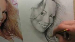 Mariah Carey, speed drawing