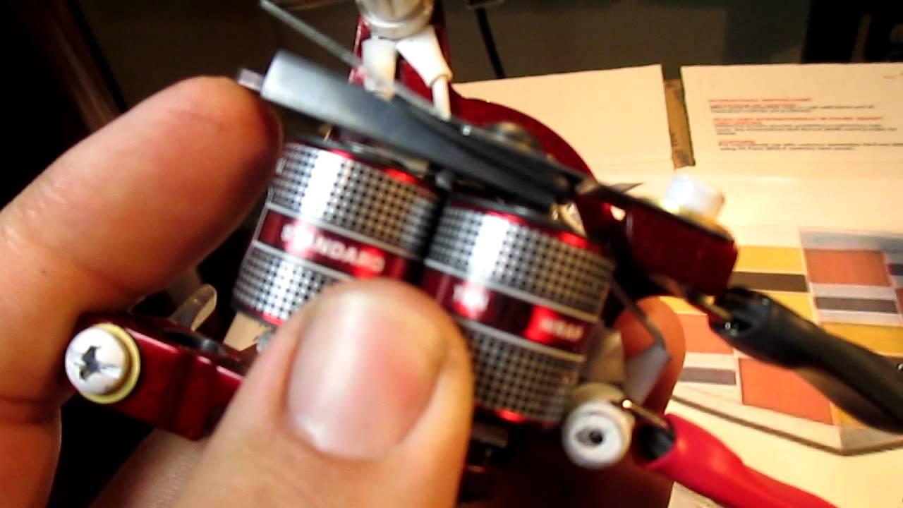 Custom hand made eikon build tattoo machine shader color for How to make a home made tattoo machine