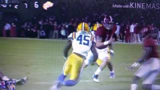 Jake Coker trucks LSU linebackers