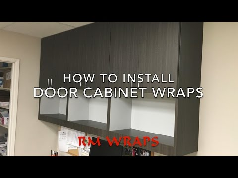 Wrapping a cabinet door with 3M Di-noc vinyl Rmwraps.com