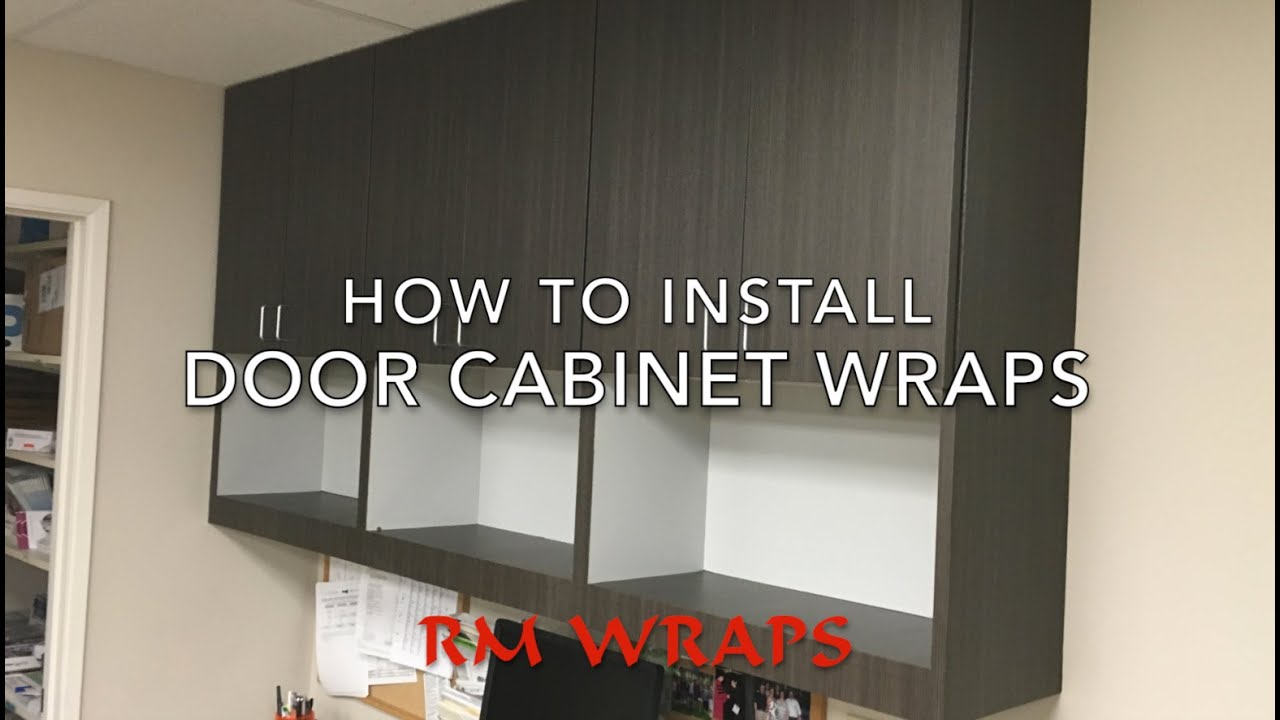 Wrapping a cabinet door with 3M Di-noc vinyl Rmwraps.com - YouTube