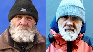 BUY CLOTHING THE HOMELESS GRANDFATHER | Attacked in GUM