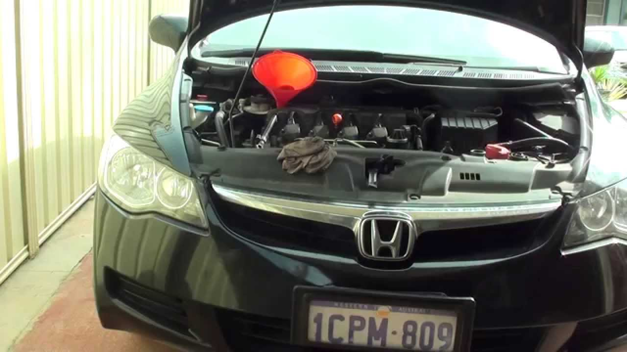 how to add oil to civic