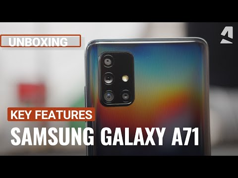 Samsung Galaxy A71 unboxing and key features