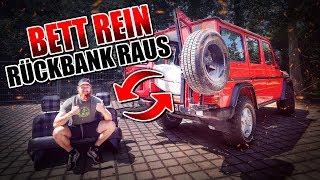 BETT REIN RÜCKBANK RAUS - G-Klasse Umbau #002 | Fritz Meinecke
