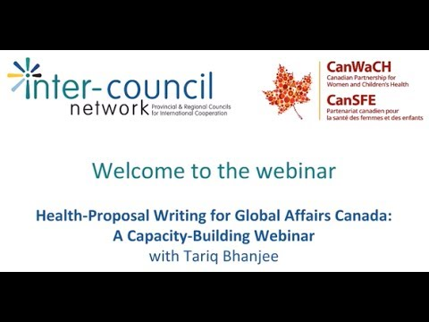 Webinar: Health Proposal Writing for Global Affairs Canada