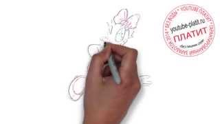 ДОНАЛЬД ДАК онлайн  Как быстро карандашом нарисовать Дональда Дака из мультфильма Утиные истории