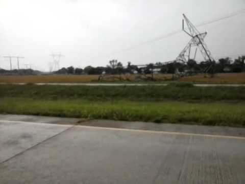 Powerline  goes down Bastrop La