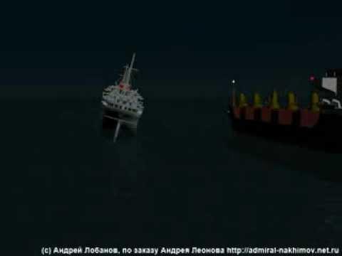 Анимация гибели парохода