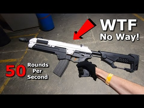 Boring Company Flamethrower made into Airsoft Gun! 50 RPS DSG Gameplay!