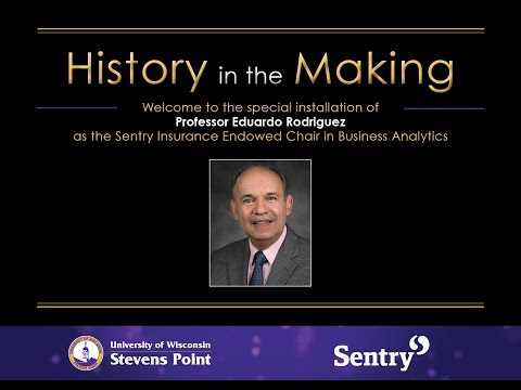 UW-Stevens Point Endowed Chair in Business Analytics Install