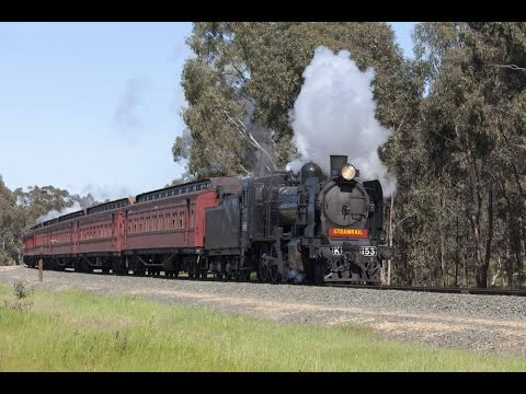 Australian Trains Echuca 150 Years of Railways Steam Train Shuttles 2014
