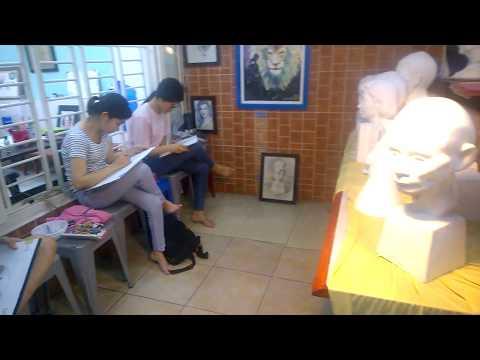 Lớp học vẽ Luyện thi Kiến trúc, Mỹ thuật - Khối V, H tại DoArt