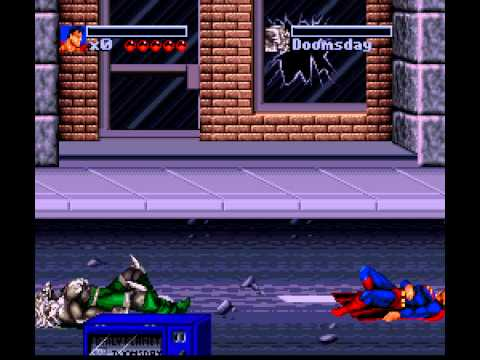 Death and Return of Superman, The (SNES) -Superman Vs Doomsday- Vizzed.com
