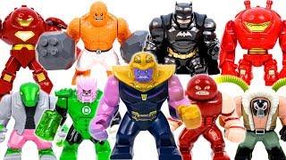 Lego Marvel Super Hero Infinity War Collections~! BATMAN, HULKBUSTER, BEN GRIMM vs Thanos Army