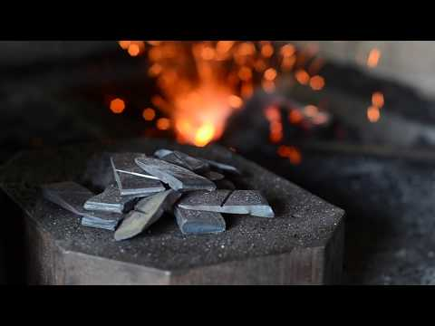 Blacksmithing: How to make a steel wedge for hammers, axes etc.