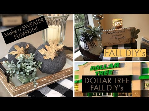 Dollar Tree Fall DIY's and a TYPO.....