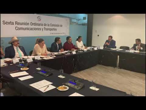 #DesdeElSenado en la Comisión de la Secretaría de Comunicaciones y Transportes