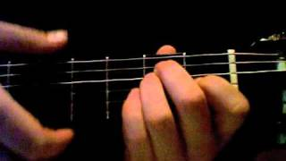 first chords guitar lesson: open major (c, d, e, g and a).