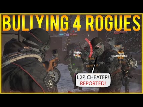 Solo Bullying 4 Rogues! Solo DZ PVP #97 (The Division 1.8.3)