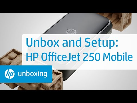 Unboxing, Setting Up, and Installing the HP OfficeJet 250 Mobile Printer   HP OfficeJet   HP