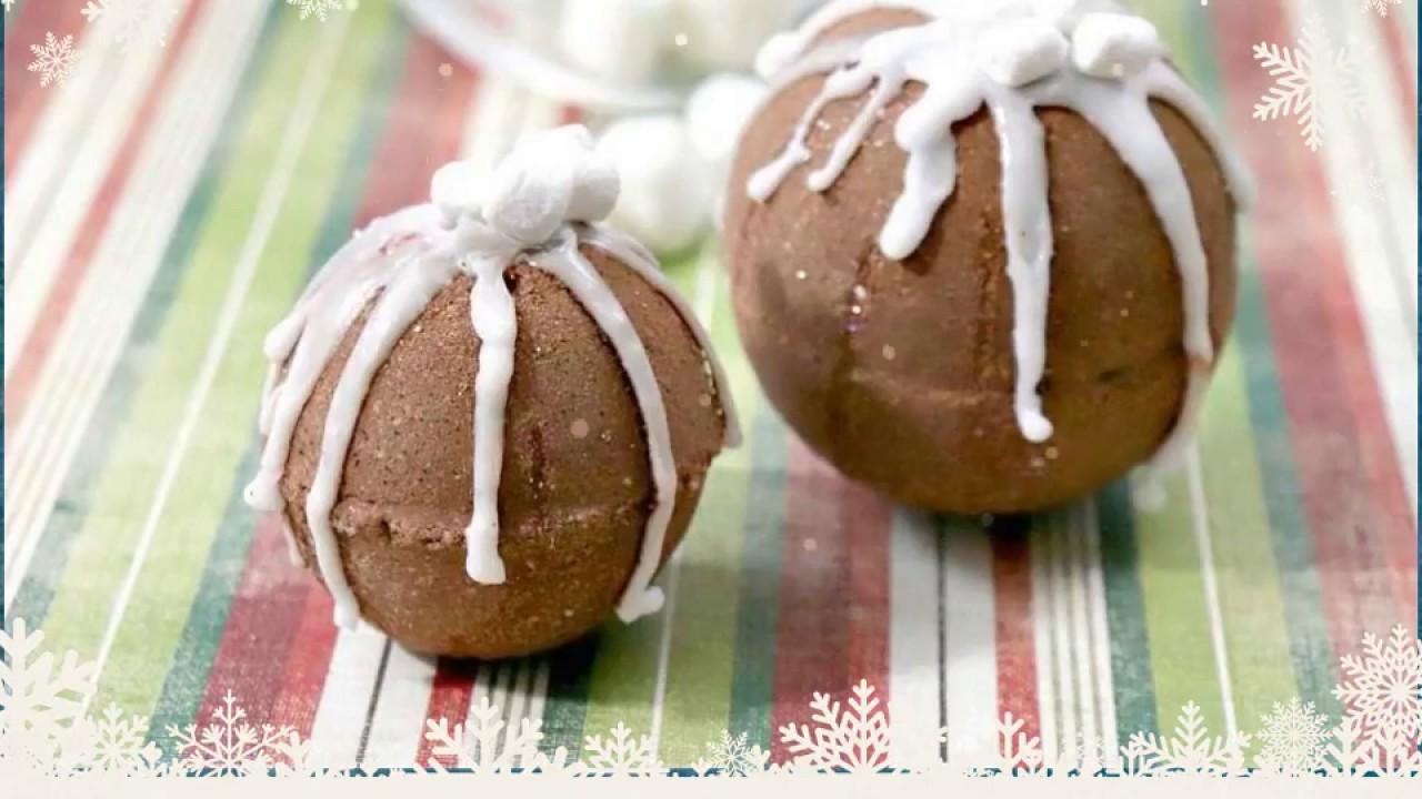 Hot Cocoa And Marshmallows Bath Bombs Recipe Youtube