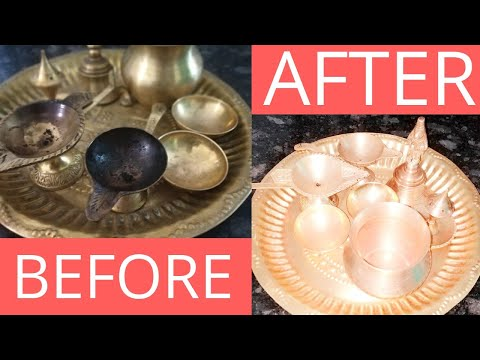 #temple,#cleanpujautensils, How to clean Puja utensils|पूजा के बर्तन को बनाये नए जैसा|How to clean