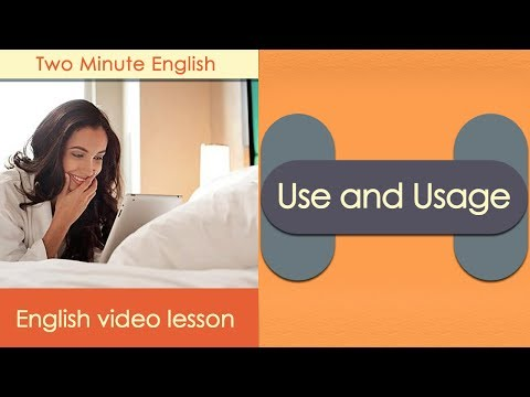 Use and Usage - Often Confused Words in English - Advanced English Grammar Videos