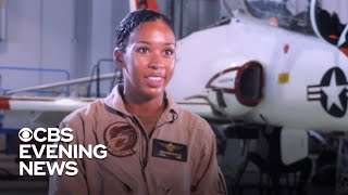U.S. Navy's first Black female fighter pilot to receive her wings