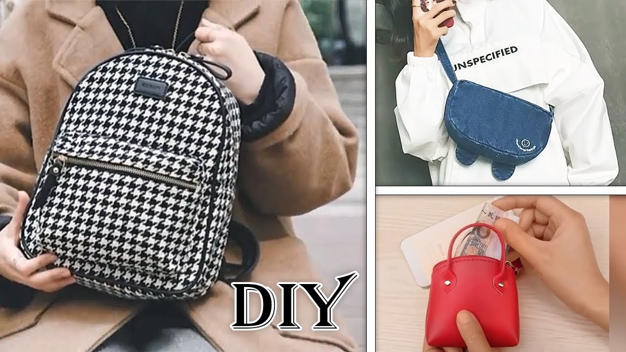 ♥ DIY BACKPACK PURSE & POUCH FROM NOTHING ♥ Everyone CAN Make This !! TUTORIAL STEP BY STEP