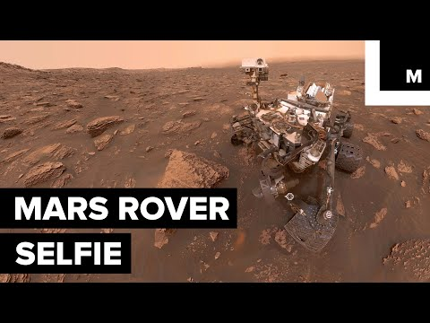 A Mars Rover Took a Selfie in the Middle of a Crazy Martian Storm