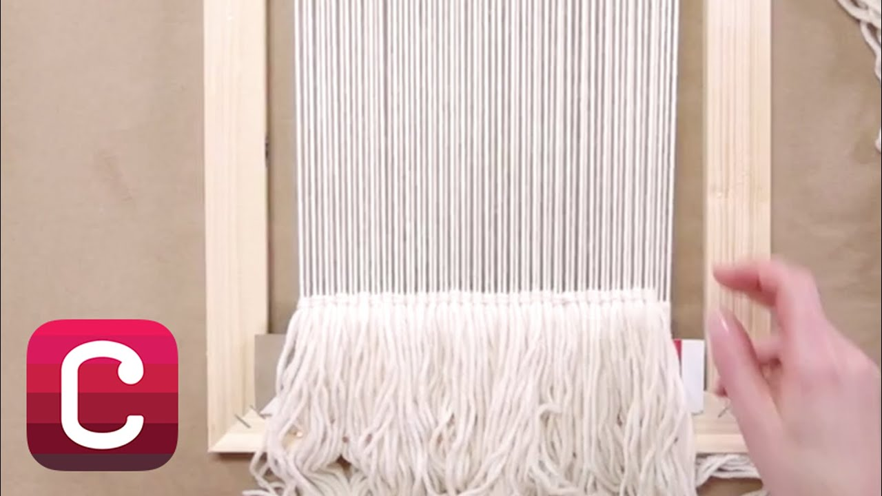 Weaving For Beginners Part 3 Start Weaving And Add Fringe