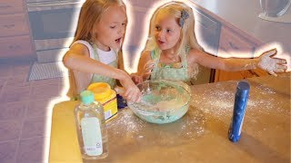 Lyla and Sophie Make SLIME and Get GROUNDED!!