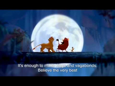 "The Lion King (1994): ""Can You Feel the Love Tonight"" by Elton John (with lyrics)"